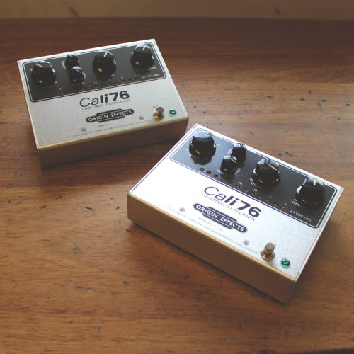 Origin Effects Cali76 SlideRig Compact Deluxe Cali76-TX-L Boutique Analogue Compressor Made In The UK England Built In Britain Sustainer