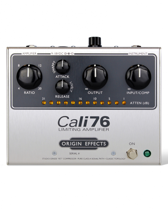 Cali76-G-Origin-Effects-Analogue-Boutique-Compressor-Sustainer-Front-Controls