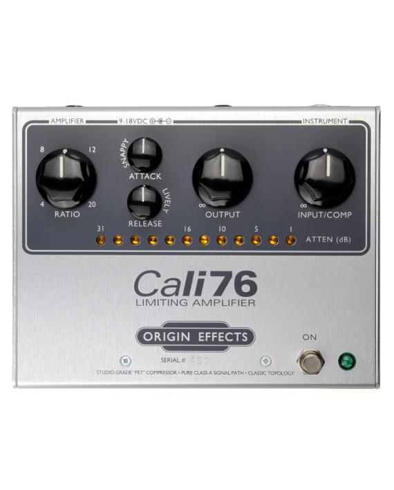 Cali76-TX & TX-L Origin Effects Analogue Boutique Compressor Sustainer Front Controls