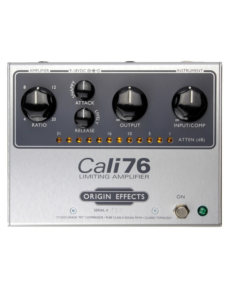 Cali76-TX-Origin-Effects-Analogue-Boutique-Compressor-Sustainer-Front-Controls
