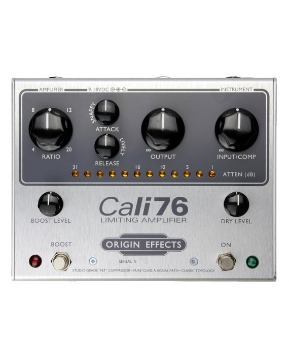 Cali76-TX-P-Origin-Effects-Analogue-Boutique-Compressor-Sustainer-Front-Controls