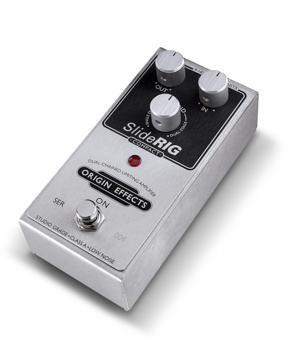 SlideRIG-C-Origin-Effects-Analogue-Boutique-Compressor-Sustainer-Angled