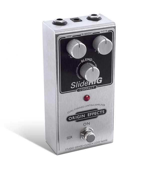 SlideRIG-C-Origin-Effects-Analogue-Boutique-Compressor-Sustainer-Standing