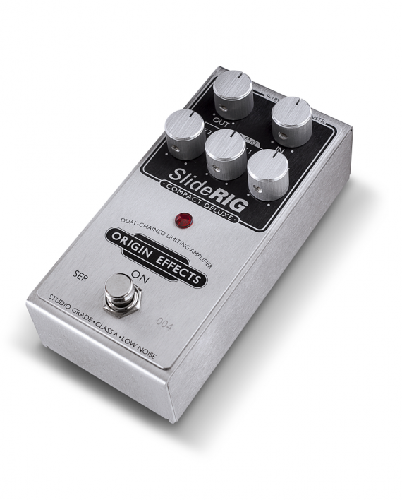 SlideRIG-CD-Origin-Effects-Analogue-Boutique-Compressor-Sustainer-Angled