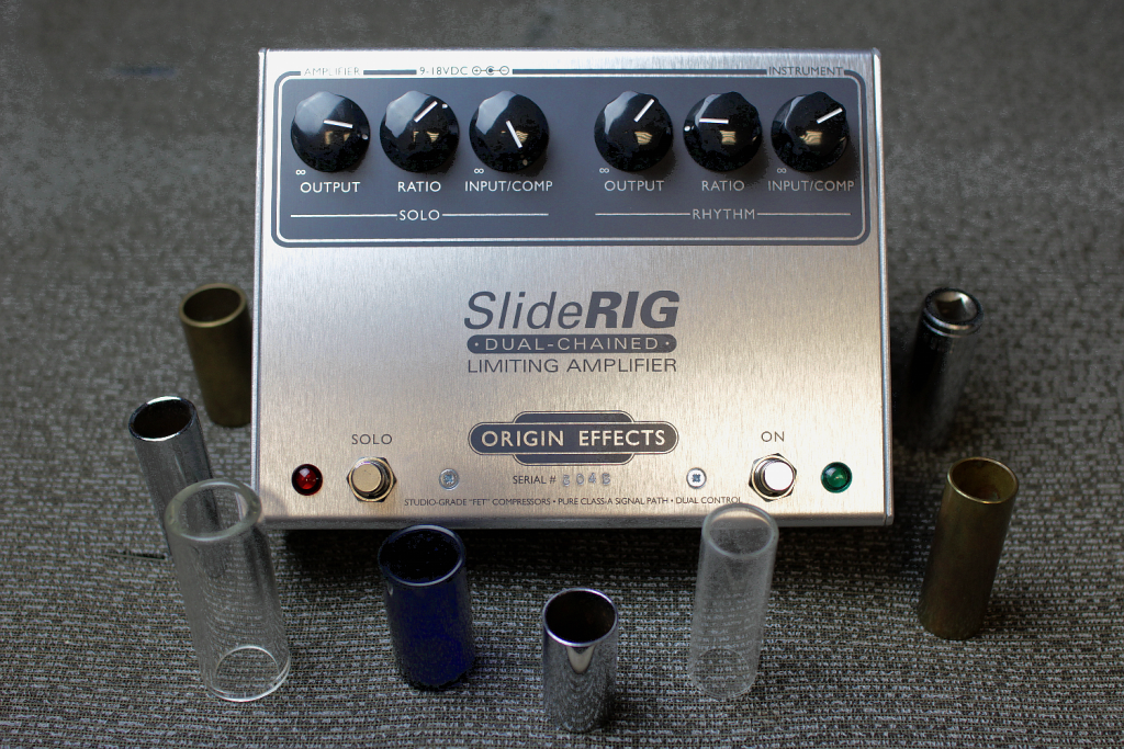SlideRIG-Origin-Effects-Analogue-Boutique-Compressor-Sustainer-Slide-Bottleneck-Guitar-Pedal