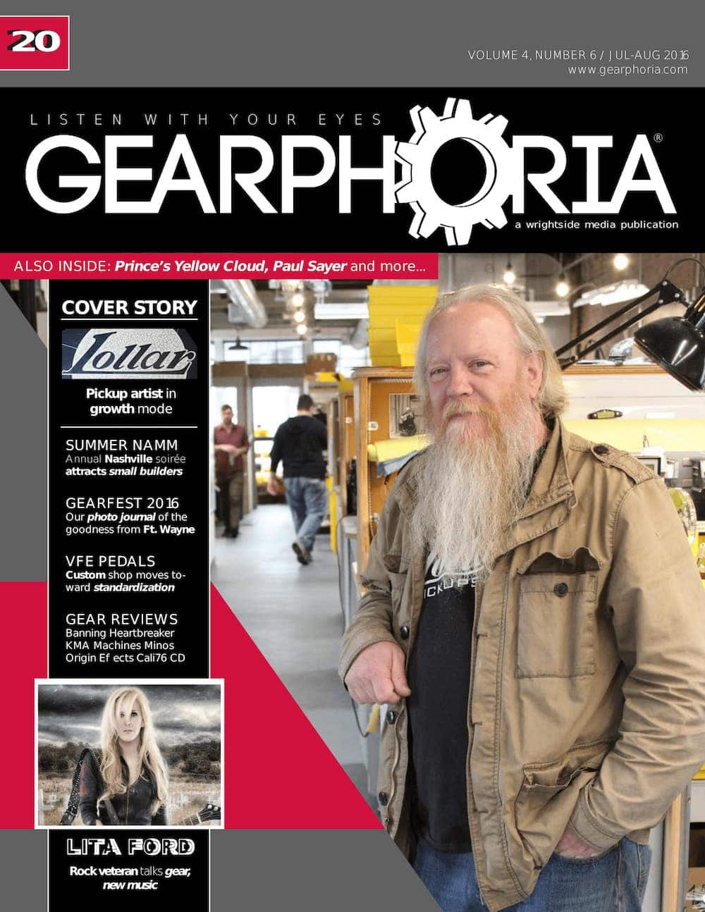 Gearphoria issue 20 July 2016 Origin Effects Cali76 Compact Deluxe Review Origin Effects Cali76 Compact Deluxe Analog Boutique Compressor Guitar Effects Pedal