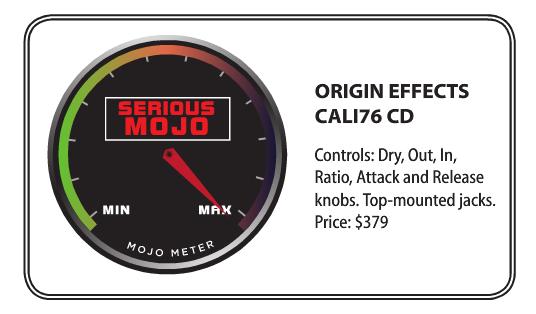 Gearphoria issue 20 July 2016 Origin Effects Cali76 Compact Deluxe Review Origin Effects Cali76 Compact Deluxe Analog Boutique Compressor Guitar Effects Pedal