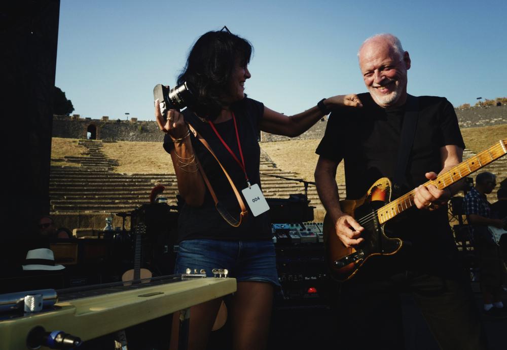 Gilmour Pompeii Concert using Origin Effects Cali76 Compact Compressor Guitar Pedal Polly Samson