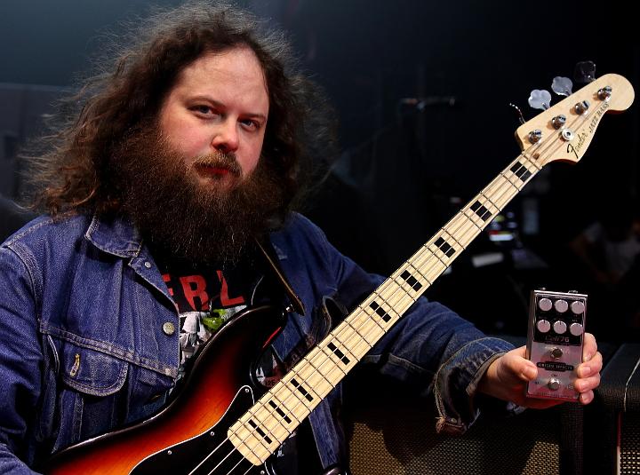 Jake Blanton Killers Bassist Origin Effects Cali76 Compact Bass Pedal Sia Beck Mark Stoermer