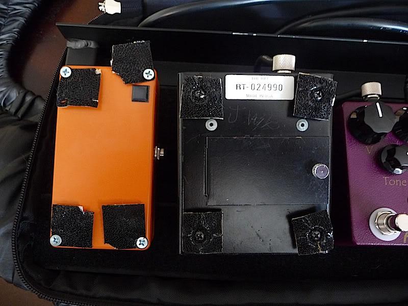 dual lock velcro tip pedalboard from Origin Effects