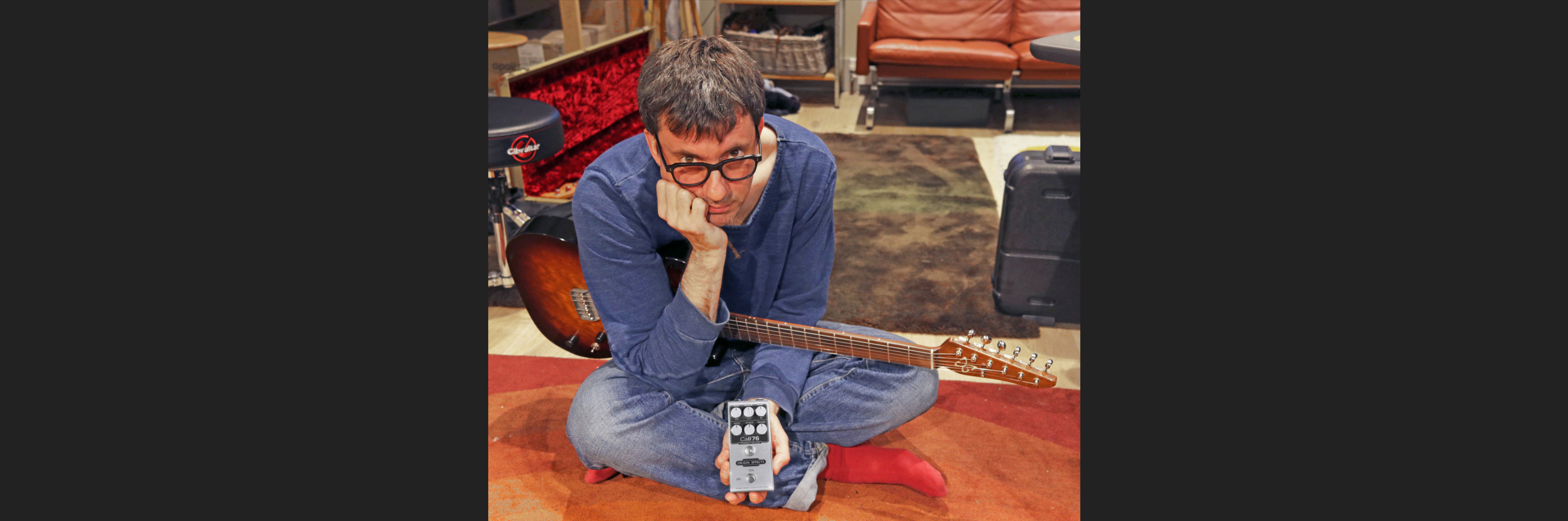 Graham Coxon Blur Origin Effects Cali76 Compact Deluxe Compressor Pedal Studio Quality Gray Guitars Telecaster Boutique
