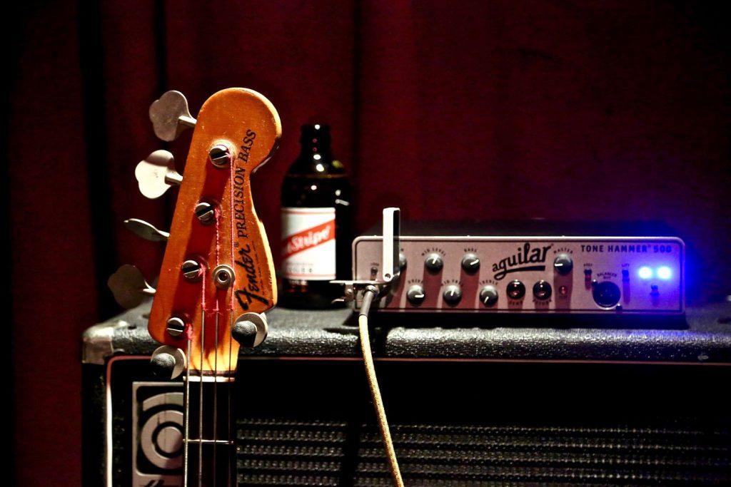 Matt Littell Aguilar Tone Hammer Ampeg Cab SFX Sound Micro-Thumpinator Polytune2 tuner Darkglass Electronics Vintage Microtubes Cali76-TX compressor Noble preamp DI