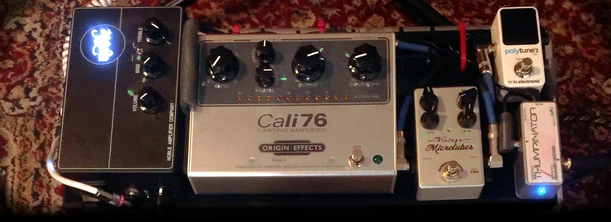 Matt Littell pedalboard readers origin effects cali76 tx compressor pedal