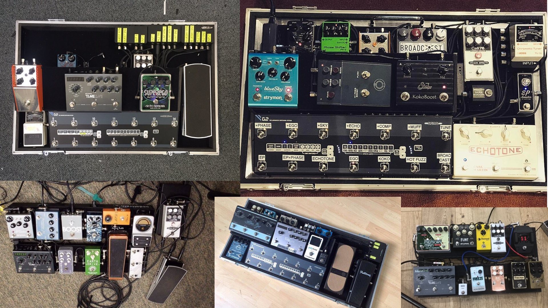 Dan Rothman Graham Coxon Fred Fairbrass Linda Taylor Simple Minds Pedalboard Origin Effects Cali76 gigrig