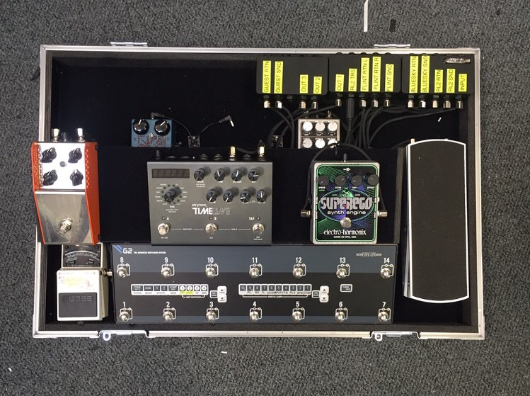 Dan Rothman London Grammer Pedalboard Origin Effects Cali76 Hog Analogman Chorus Strymon Bluesky Flint