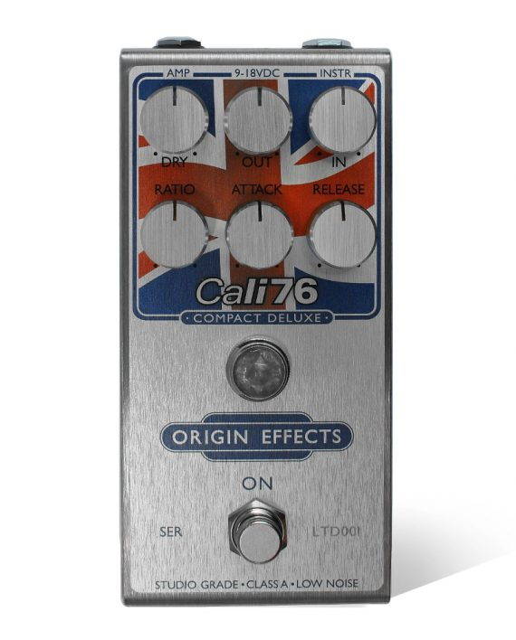Cali76-CD Union Jack Limited Edition Origin Effects Analogue Boutique Compressor Sustainer Front