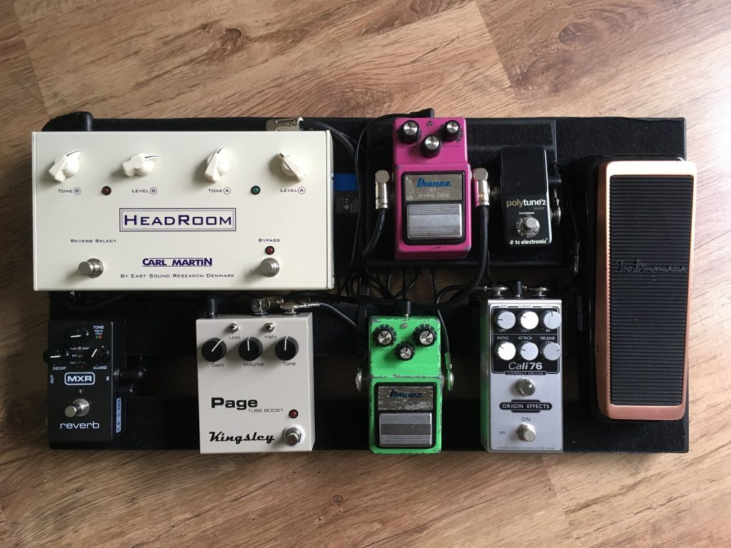 Edward Oleszko Pedalboard Origin Effects Cali76 Ibanez AD9 TS9 Joe Bonamassa Wah MXR Reverb Carl Martin Headroom Kingsley Page