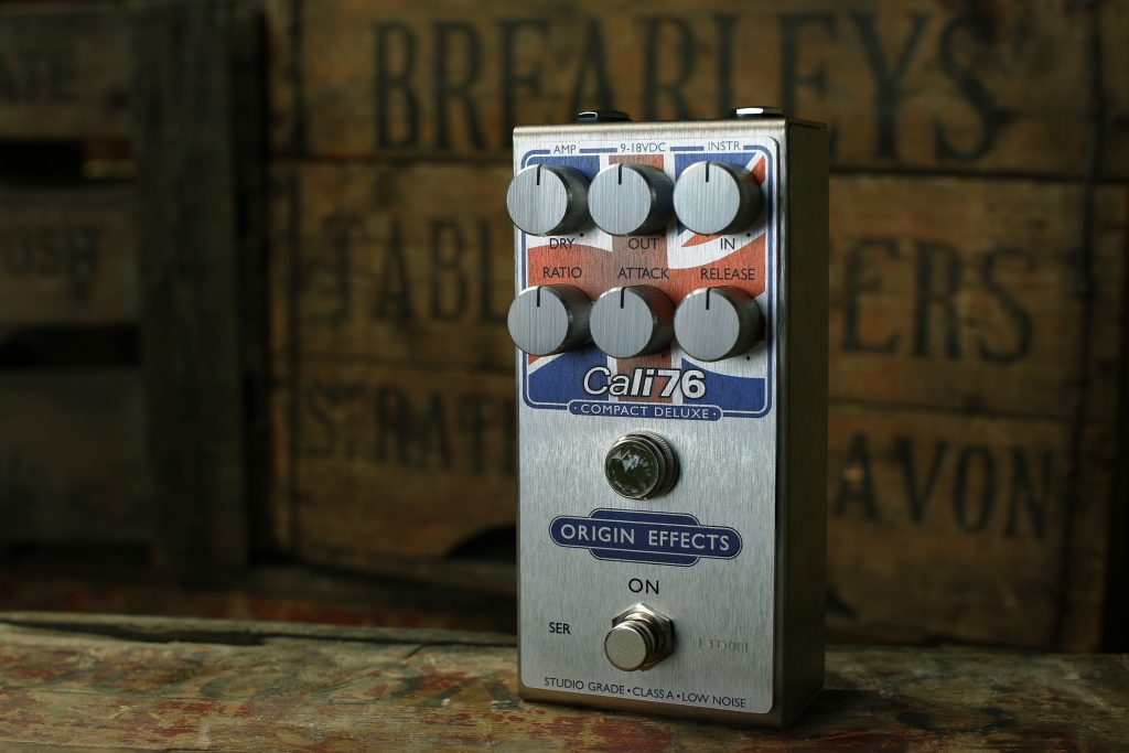 Origin Effects Celebrates 10k Sales with its Cali76 Compact Deluxe Union Jack pedal