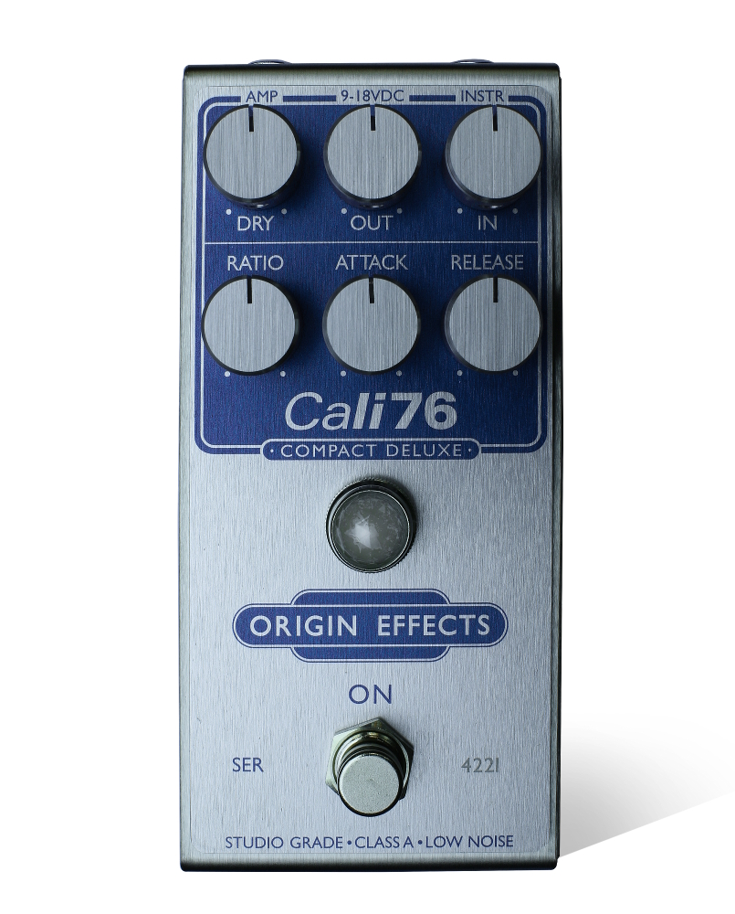 Pedal Genie Limited Edtion Blue on Silver Cali76 Compact Deluxe