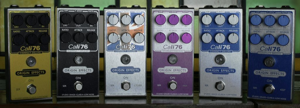Limited Edition Cali76-CD Pedals Line Up Banner