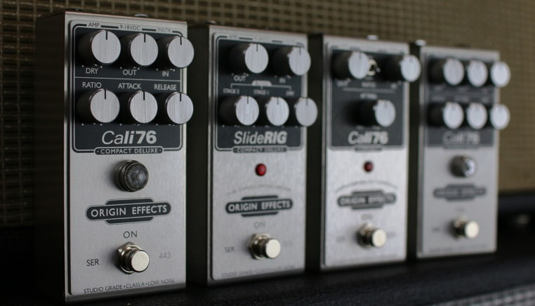 Origin Effects compressor Compact Series Cali76 SlideRIG Cali 76 Slide RIG Deluxe Analog Boutique Analogue