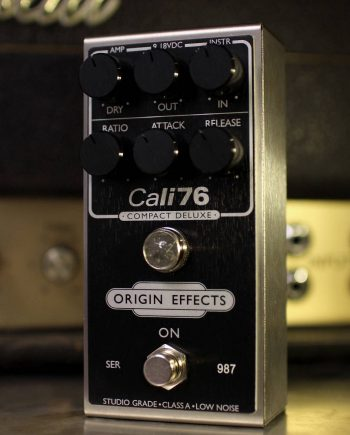 Origin Effects Cali76 Compact Deluxe Black Panel and Knobs Limited Edition Run Guitar Compressor Pedal