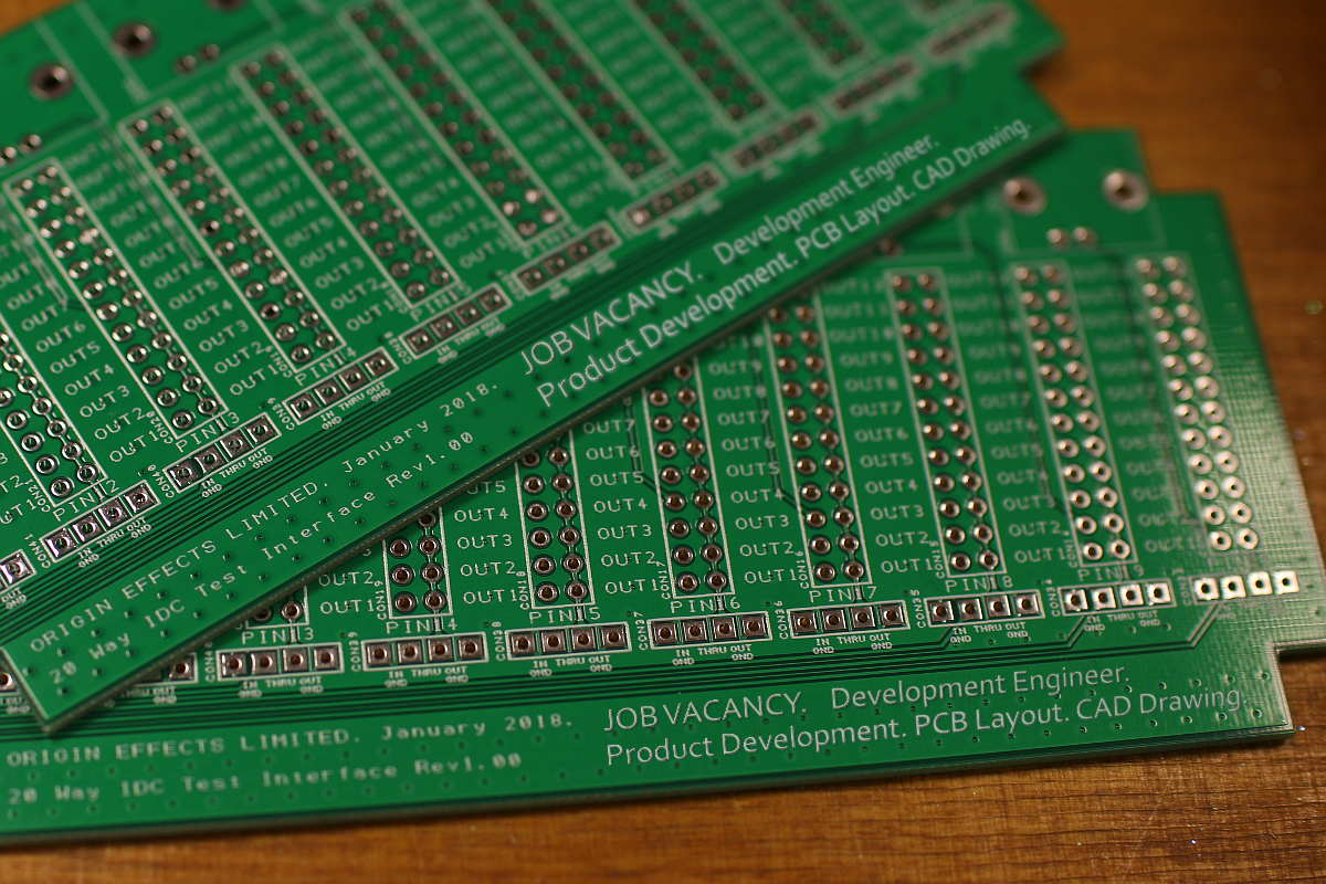 Origin Effects pedal builder guitar bass Development Engineer advert image pcb