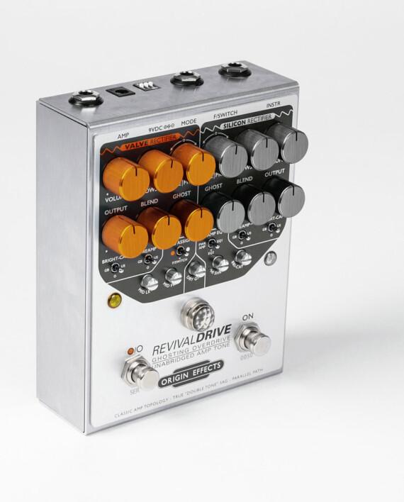 Origin Effects RevivalDRIVE standing overdrive amp in a box guitar pedal amplifier blackface plexi boutique analogue