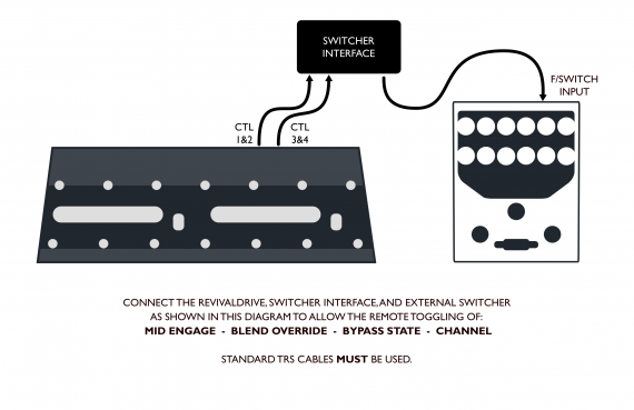 Connections – RevivalDRIVE, switcher interface, and remote switcher 80dpi