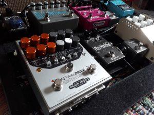 Origin Effects RevivalDRIVE amp in a box pedal on John Hosker pedalboard