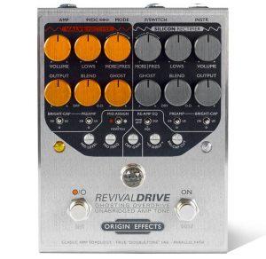 Origin Effects RevivalDRIVE amp in a box pedal