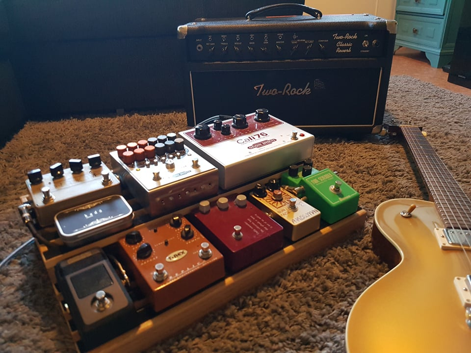 Reader pedalboard Origin Effects Cali76 RevivalDRIVE overdrive solidgoldfx formula 76 fuzz keeley analogman klon trex replica