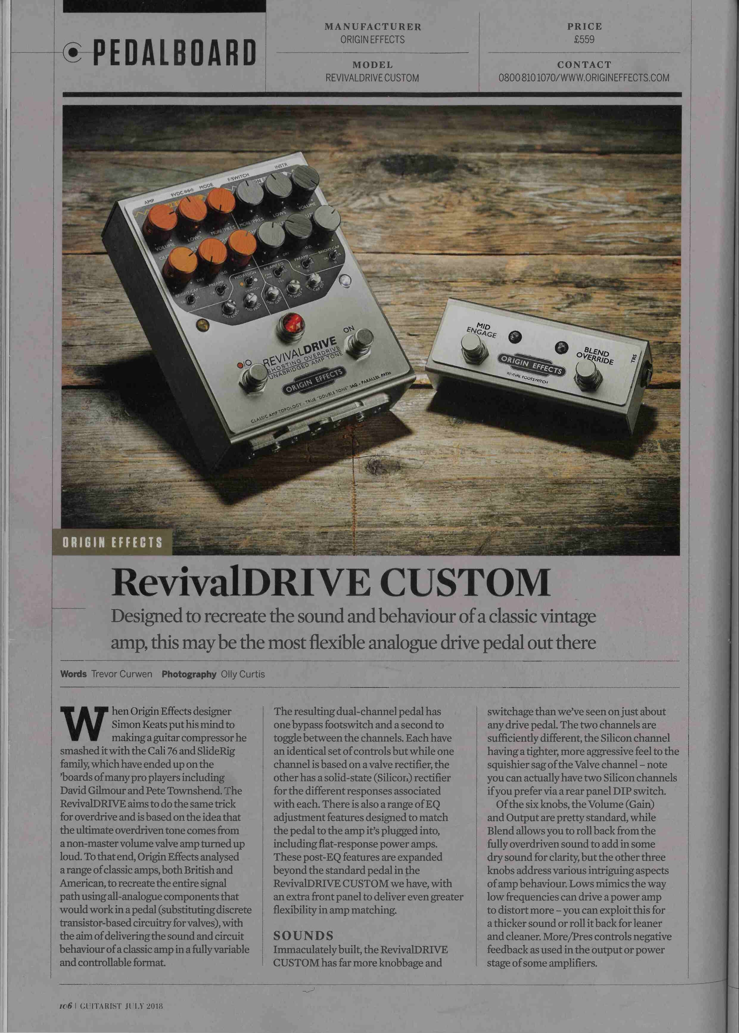 Guitarist RevivalDRIVE review first page