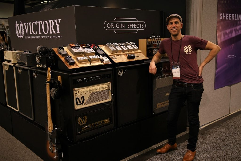Origin effects NAMM 2019 Cali76 RevivalDRIVE SlideRIG Pedals Pedal Pedalboard Compressor New Best Analog Analogue