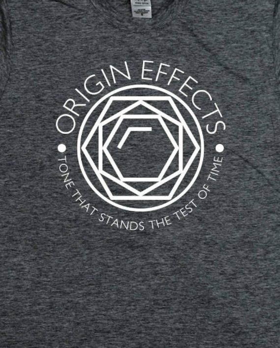 Origin Effects Grey T-Shirt Front Jewel Design close up
