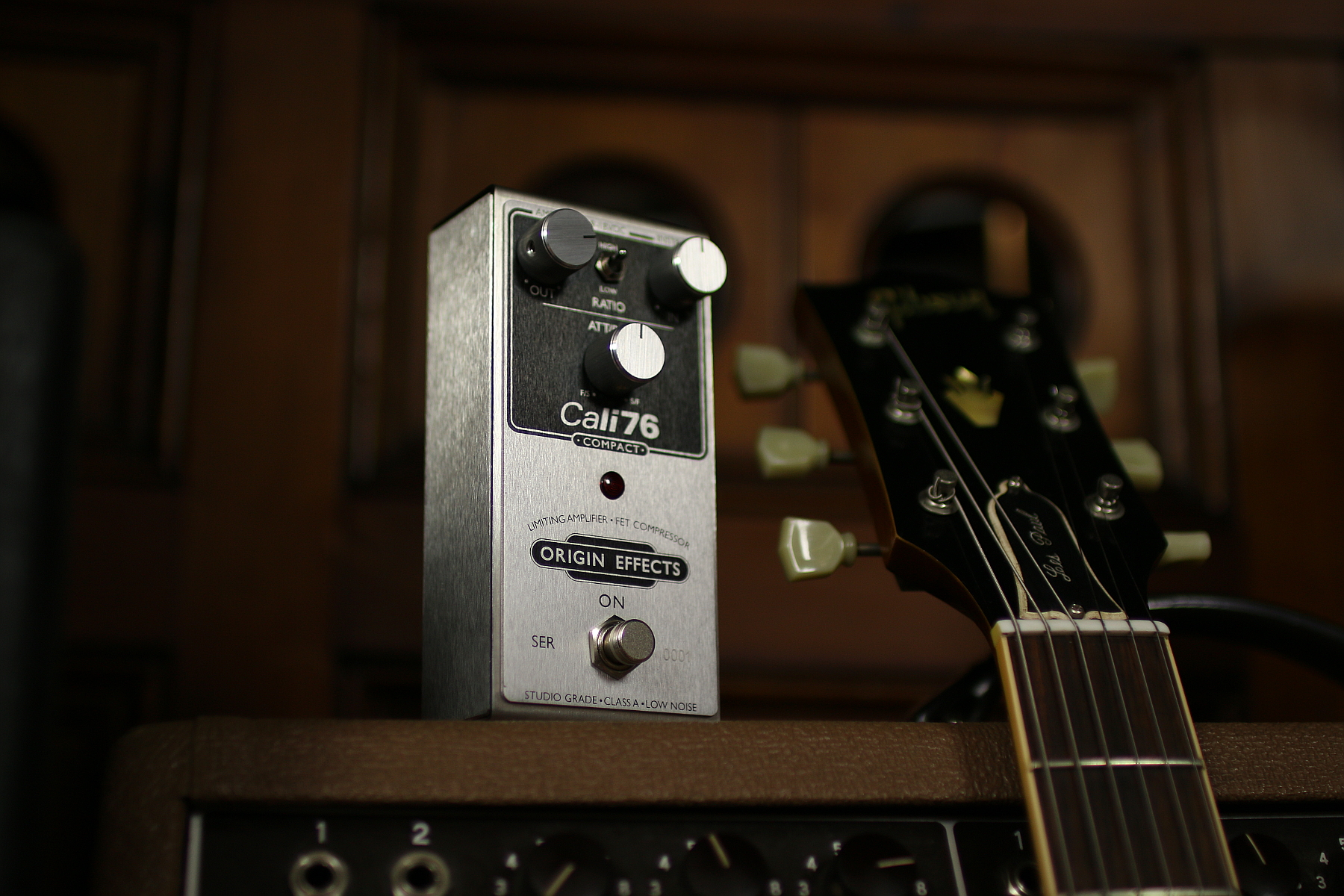 Origin Effects Cali76-C with SG and Fender Super Compact Compressor Boutique Handbuilt