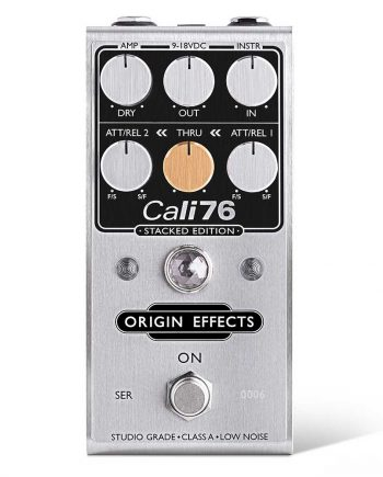 Origin Effects Cali76 Stacked Edition SE Compressor Limiter Guitar Pedal Clean Sustain Boutique Deluxe Compact Series Parallel Stompbox Front