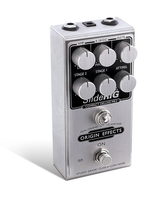 Origin Effects SlideRIG MK2 Compressor Limiter Guitar Pedal Lapsteel Steel Pedalsteel Sustain Stompbox Angle
