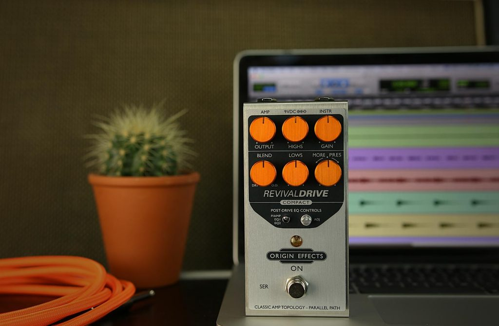RevivalDRIVE Compact Origin Effects Best Amp In A Box Pedal for Recording Directly to Pro Tools
