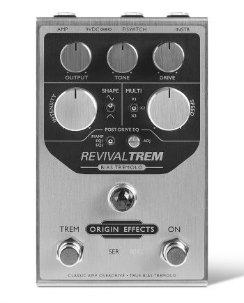 Origin Effects RevivalTREM tremolo pedal effect revival trem tap tempo bias tube valve sine modulation