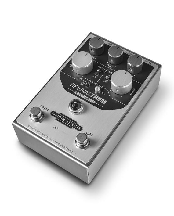 Origin Effects RevivalTREM tremolo pedal effect revival trem tap tempo bias tube valve sine modulation